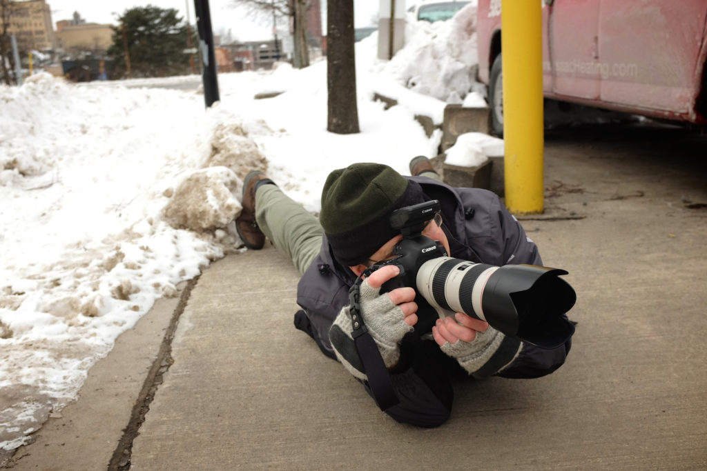 ...anything to get the shot!