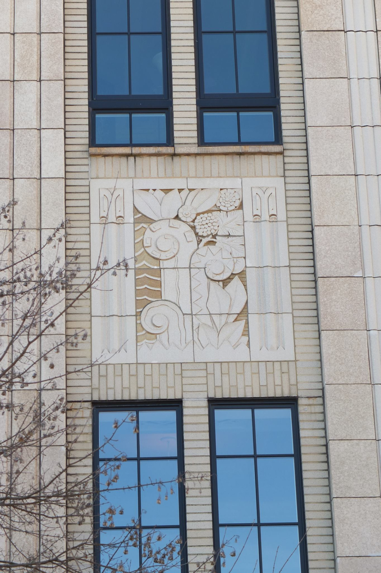 photo of the art nouveau Kress building in Durham NC