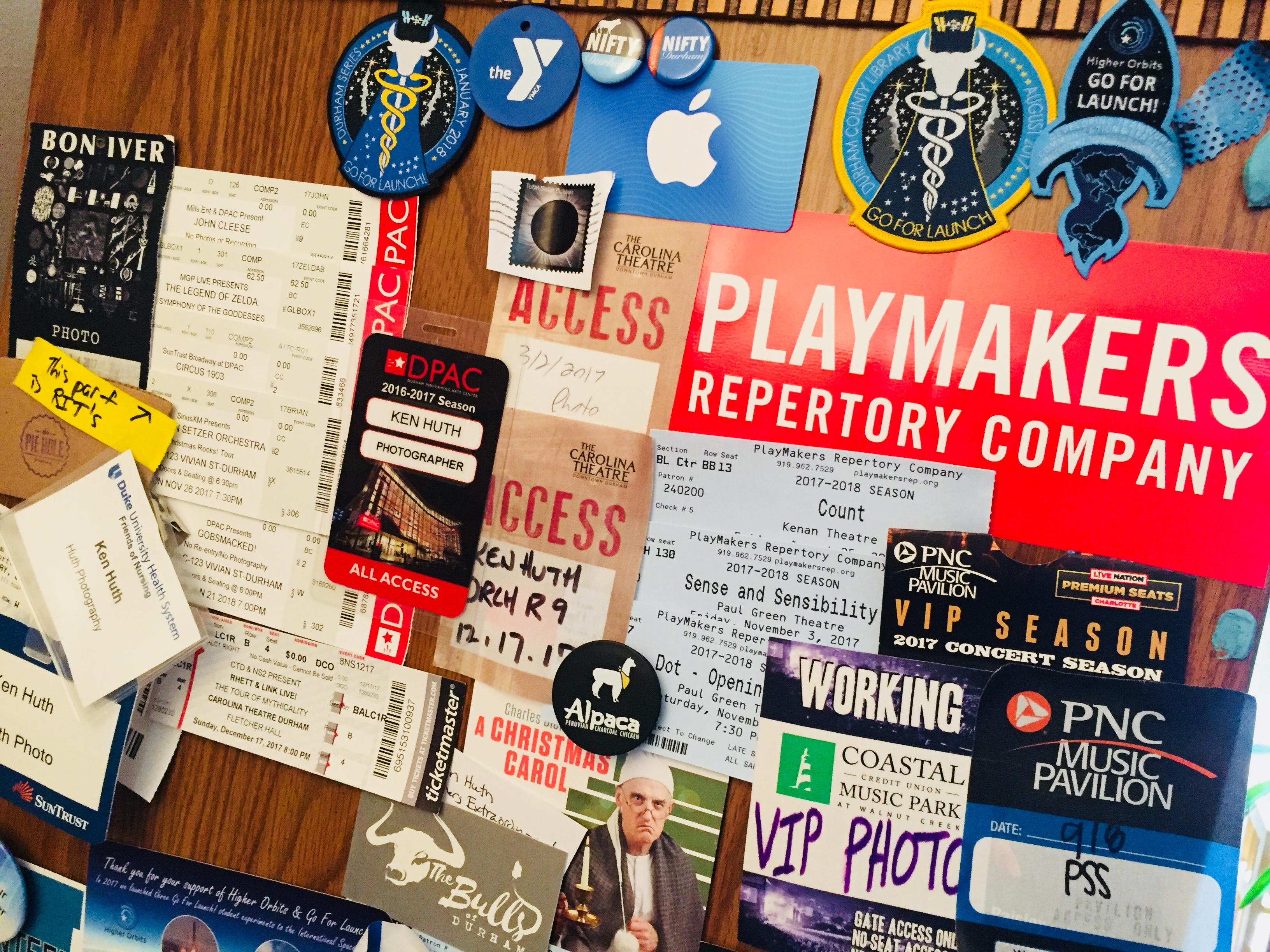 Image of PlayMakers bumper sticker and other memorabilia
