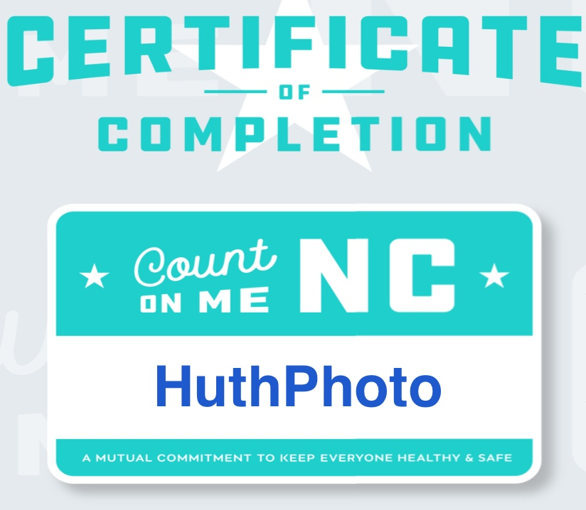 Graphic saying Certificate of Completion' from Count on Me NC for HuthPhoto